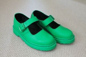 Dr. Martens Women's Green 5026 Mary Jane Style Shoes Size UK 3 EU 35.5 Worn Once