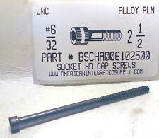 #6-32x2-1/2 Hex Socket Head Cap Screws Alloy Steel Black (4)