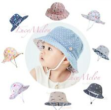 kids bucket hat children denim cotton beach outdoor girls boys sun protection