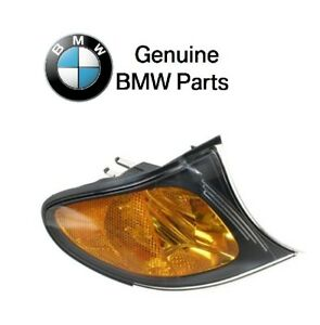 For BMW E46 325i 330i Right Front Black Trim Turn Signal Light Genuine