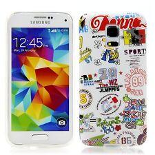 Samsung Galaxy s5 Mini en silicone pour téléphone portable protection case housse étui donna BD BLANC