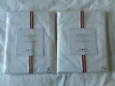 NEW AUTH RESTORATION HARDWARE SATIN STITCH HOTEL SET OF 2 SHOWER CURTAIN