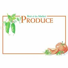 """Sign Cards Best of Market Produce - 11"""" L x 7"""" H 100 Per Pack"""