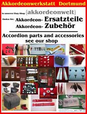 Fisarmonica parti, pezzi di ricambio, accessori, accordion Parts, Accessories (1 Intonaco Panno)