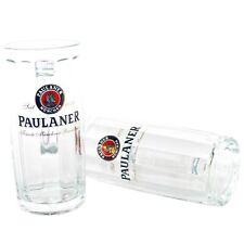 2er Set Paulaner Gläser 0,3l geeicht Bier Glas mit Henkel Seidel Moldau Gastro