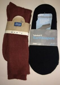 Men's Sock set of 2 Timberland Earthkeepers Boat Sock Liner & Bass Size 10-13