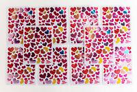 51 Glitzerherzchen 1-20 Aufkleber Sticker Liebe Hochzeit Kinder basteln Herz