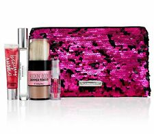 Victoria's Secret 4-Piece Bombshell Gift Set with Pink Sequins Pouch