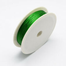 Iron Wire Green 1Roll 0.3mm approx. 20m/roll Steel Wire Cable Jewelry Making