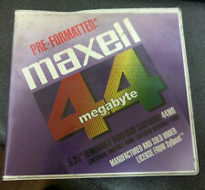 "Maxell RC-44 44MB 5.25"" Rewritable Hard Drive Pre-Formatted Cartridge FREE SHIP!"