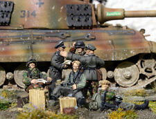 CP Models WS20 20mm Diecast WWII German SS Batallion Command inc. Radio (5 figs)