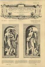 1863 Neptune God Of The Sea Trident Horse Amphitrite Garb Of Nereid Artwork