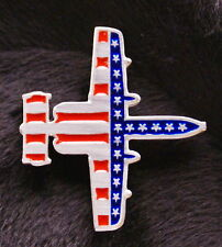Pewter A10 Airplane Flag Pin