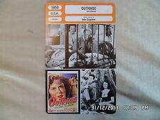 CARTE FICHE CINEMA 1950 OUTRAGE Mala Powers Tod Andrews Robert Clarke