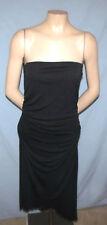 XXI PSS* Strapless Little Black Dress Size Large Bias Cut Hem Ruched Fabric To W