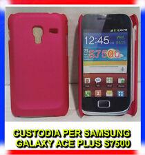 Pellicola + custodia back cover FUCSIA per Samsung Galaxy Ace Plus S7500 (H8)