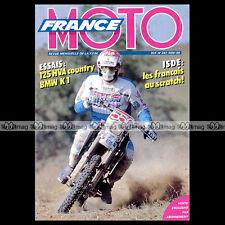 FRANCE MOTO N°241 HUSQVARNA 125 COUNTRY, BMW K1, HONDA ST 1100 PAN AUROPEAN 1989