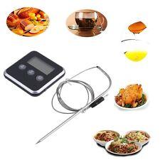 Digital Display C/F Food Thermometer Probe Timer Meter Magnet Cooking Food H0