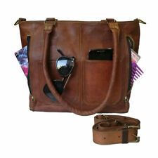 Women's Genuine Leather Handbag Tote Shoulder Bag Satchel Office Work Purse Gift