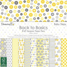 Baby Steps Dovecraft Basics Paper Pad 8 x 8 - 48 Sheets Scrapbooking Card Craft