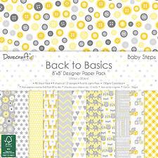 BABY Steps Dovecraft Basics Carta Pad 8 x 8 - 48 fogli Scrapbooking Card Craft