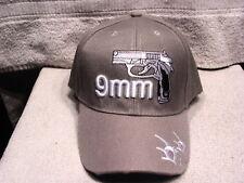 9MM PISTOL GUN BULLET BASEBALL CAP ( GREY )
