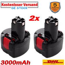 2X 9.6V 3.0AH Akku für Bosch PSR 960 BAT048 BPT1041 BAT100 GSR PSR 9.6 VE-2 NiMH