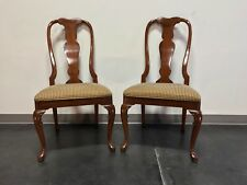 Solid Cherry Queen Anne Dining Side Chairs by Fancher - Pair 2