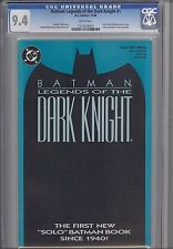 Legends of the Dark Knight 1 CGC 9.4 1989 DC Batman  Comic: aqua Cover
