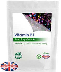 Vitamin B1 (Thiamine) 100mg (30/60/90/120/180 Tablets) Energy, Heart, Memory, UK