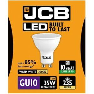 3W = 35W LED GU10 Reflector Spotlight Light Bulb Warm White 35 Watt JCB