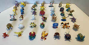 HUGE Lot Of Vintage Authentic Pokémon Mini Figures By Tomy 41 Total Figures