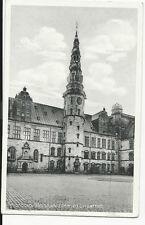 Denmark - Copenhagen, Kronborg Slotsgaarden med Urtaarnet - vintage postcard