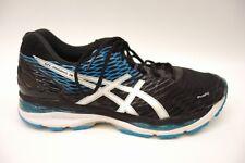 Asics Mens Gel-Nimbus 18 T600N Black Blue Athletic Running Training Shoes Sz 12