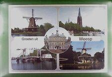 CPA Holland Weesp Windmill Moulin Molen Windmühle Molino Mill Bridge Brücke w364