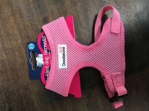 Doodlebone Airmesh Padded Dog Harness XS Pale Pink Secure High Quality Nylon