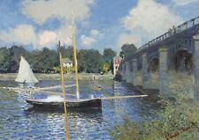 Wentworth Bridge at Argenteuil 500 Piece Claude Monet Wooden Jigsaw Puzzle Wood