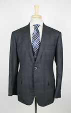 New FREEMANS SPORTING CLUB Gray Plaid Wool 3 Piece Suit 54/44 R Drop 8 $1920