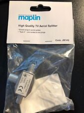 2 Way maplin Coax TV AERIAL Cable Splitter 1 female  2 male Aerial Adapter