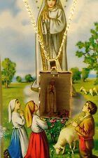 "Virgen de Fatima Medalla G.F y cadena/ Our Lady of Fatima medal with chain 20"""