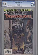 Dragonslayer #1 CGC 9.8 Marvel 1981 Marvel Movie Comic:Price Drop!