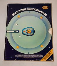 1976 STAR TREK CONCORDANCE SPECIAL-FULLY ILLUSTRATED-BOOK CLUB EDITION