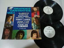 """Grandes Cantantes Vol I Raphael Perales Miguel Rios - 2 x LP Vinilo 12"""" VG/VG 5T"""