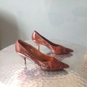 Vintage Snakeskin Shoes By British Craftsmen UK 5