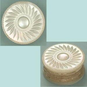 Antique Mother of Pearl Workbox Thread Waxer * English * Circa 1850