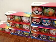 Pokemon 3 Pack Pokeball Tins 9 Booster Packs 3 Coins Sealed - Brand New!