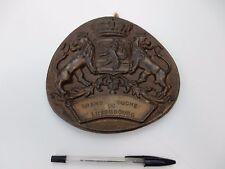 1950s era metal plaque of Luxembourg 170 X 160 mm                     re fjhart