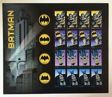 USPS - BATMAN Sheet - 75 ANNIV. Forever Postage STAMP Comics Gotham - FREE SHIP