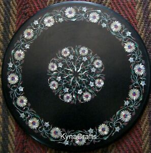 """24"""" Marble Center Table Top Pietra Dura Art Coffee Table for Living Room Area"""