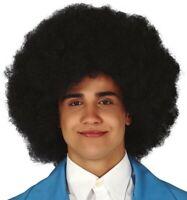 PERRUQUE Noire BIG AFRO accessoire déguisement disco hippie homme femme NEUF